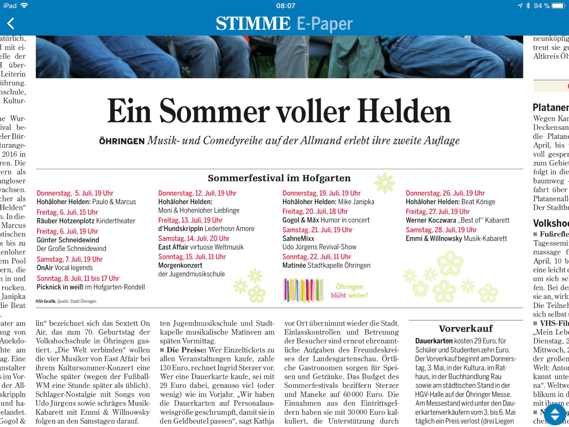 Das Sommerfestival – HEICamp Öhringen